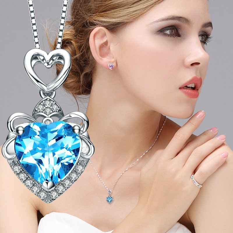Luxury Heart Crystal Necklace