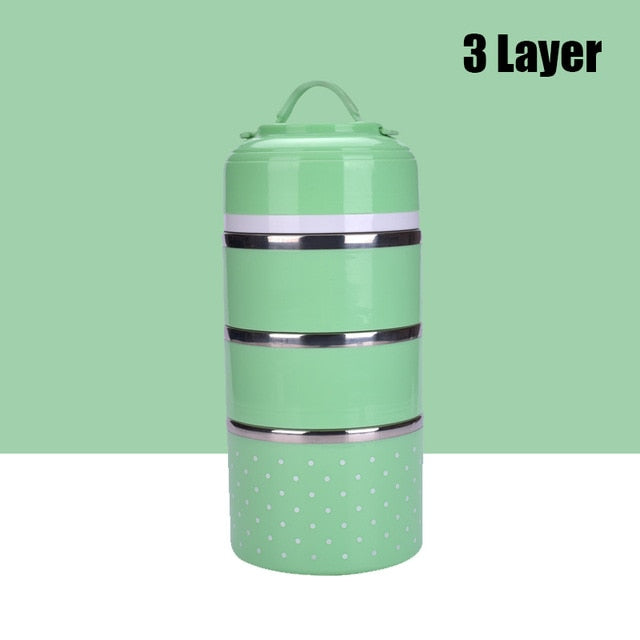 Three Layer Stainless Steel Lunch Box