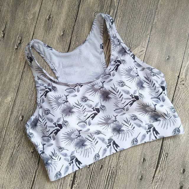 Printed Yoga Bra Top