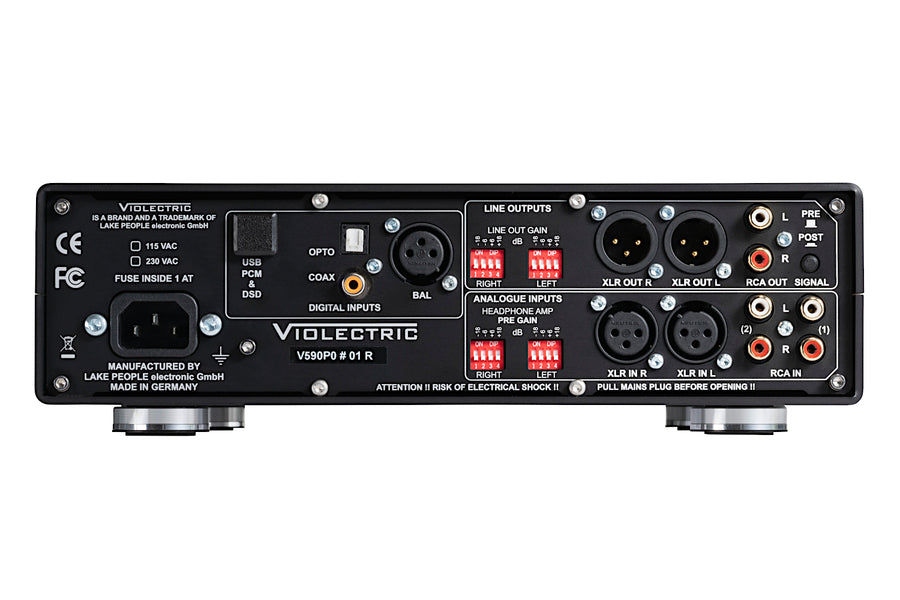 Violectric DHA V590 Pro Headphone Amp and D/A Converter ('Pro Model' Relay Volume w/ Remote)