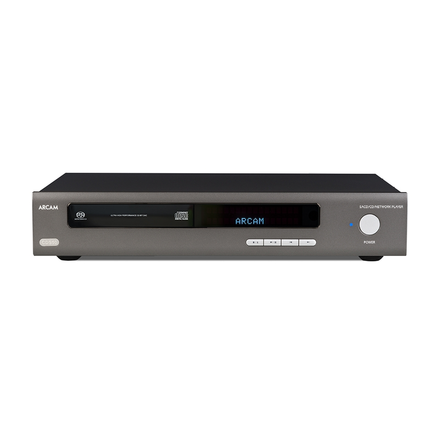 Arcam CDS50 CD/SACD Network Player
