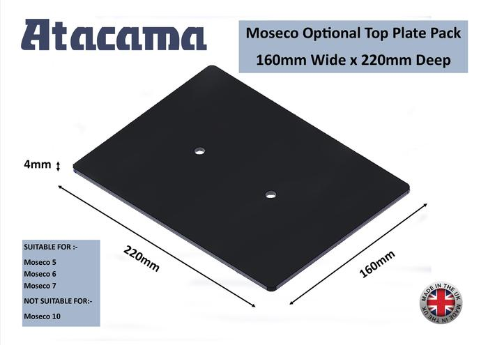 Atacama Moseco LARGE Top Plate Pack 4mm x 160mm x 220mm (pair)