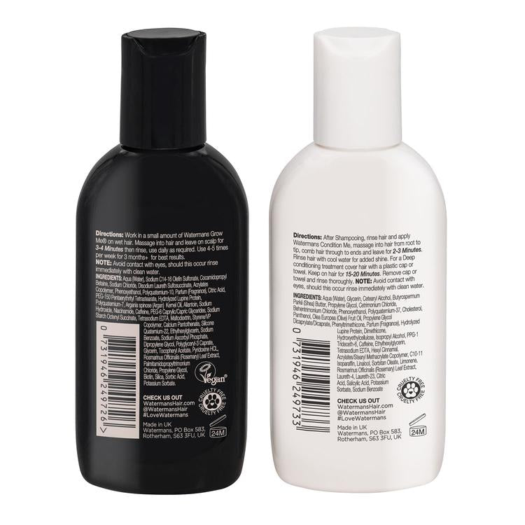 WATERMANS MINIS 75ML SHAMPOO & 75ML CONDITIONER (TRAVEL SIZE)