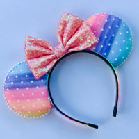 Watercolor Rainbow Mouse Ears