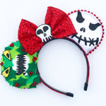 Nightmare Christmas Wreath Mouse Ears