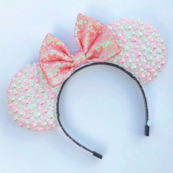 Cotton Candy Pearl Mouse Ears