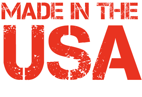 "Image of an icon with red letters ""Made n the USA"""