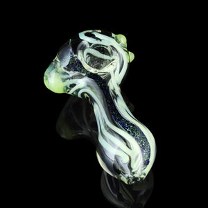 "4.5"" Slyme and Dichro Inside-out Pipe with Slyme Marbles"
