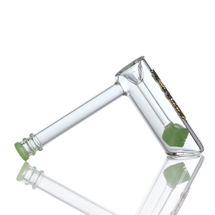 "Sesh Supply ""Castor"" Hammer Style Bubbler with Cube Perc"