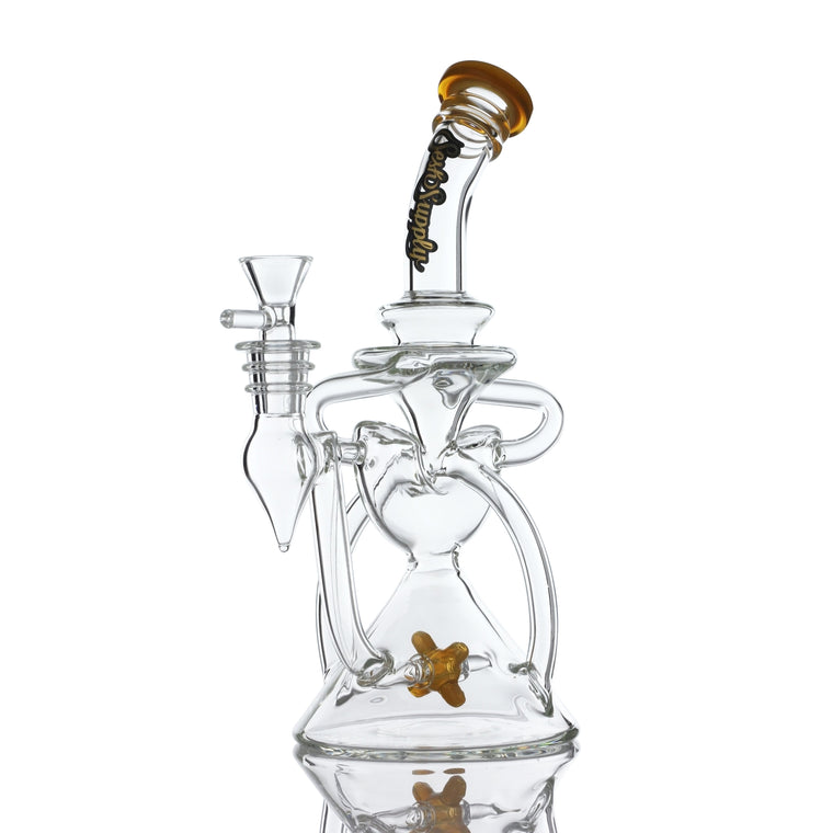 "Sesh Supply ""Pegasus"" Crescent Recycler with Propellor Perc"