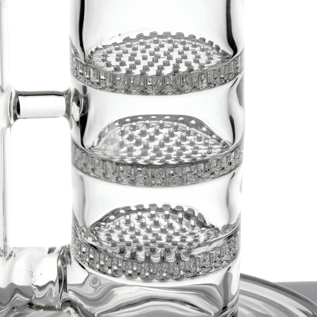 "15"" Tall Elite Triple Stacked Honeycomb and Splash Guard by Glassheads"