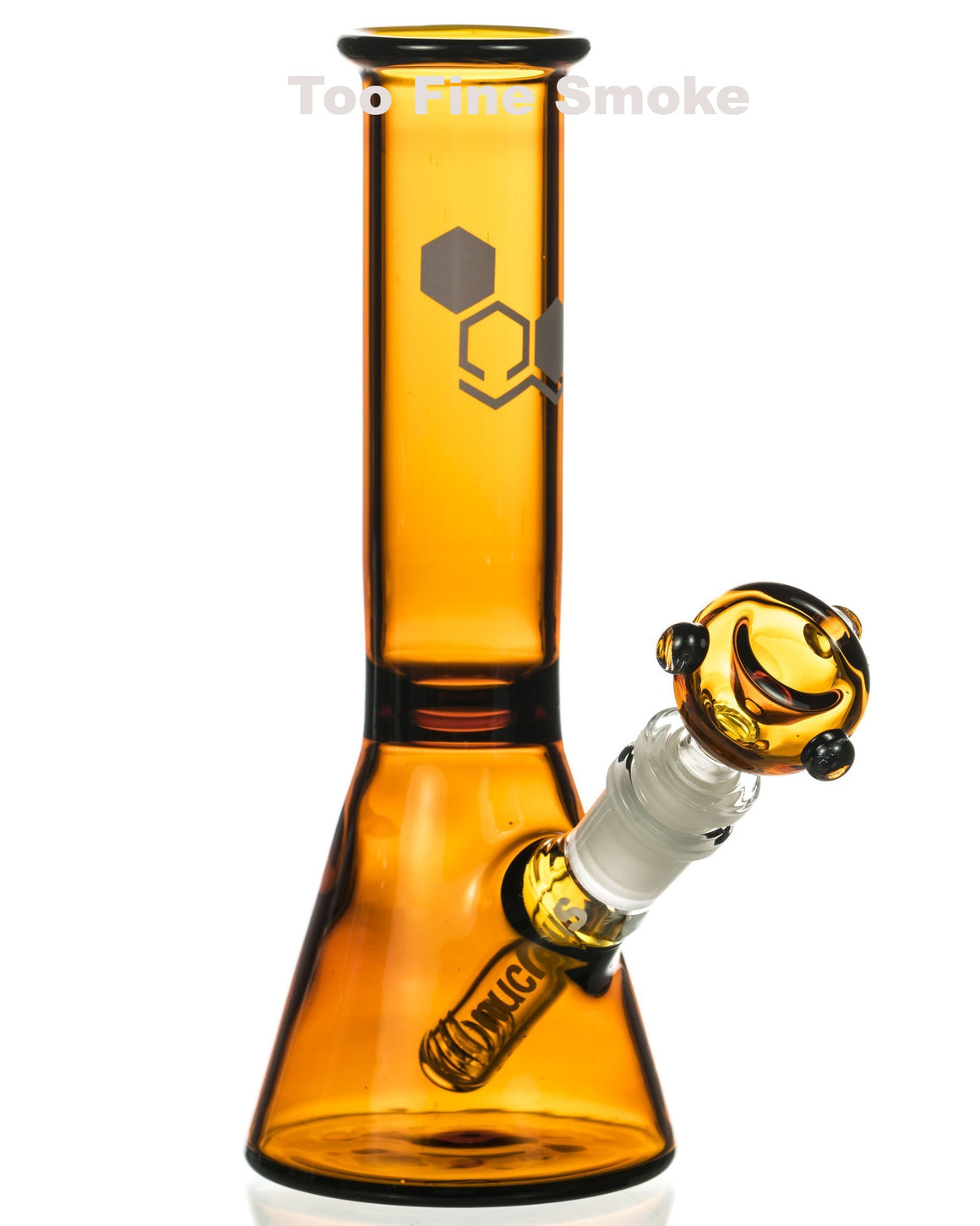 "Image of black 8"" bong"