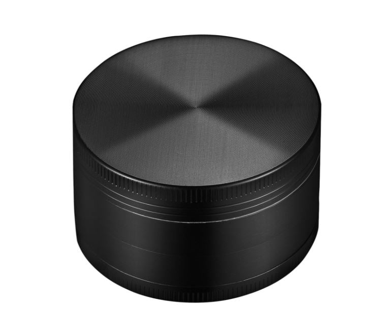 "image of 1.5"" Black 4 Piece zinc grinder complete"