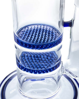 Bent Neck Double Honeycomb Perc Water Pipe