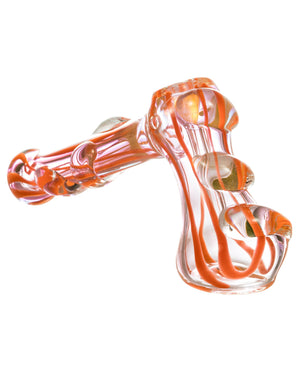 Hammer Style Bubbler with Glass Drop Accents