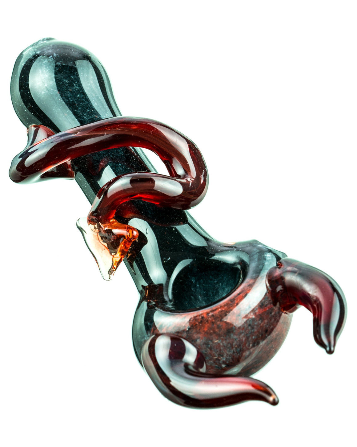 IMAGE OF A DEVIL HORNED HAND PIPE-FRONT