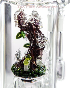 Image of a Bioluminescent Wonderland Pipe by Empire Glass made in USA