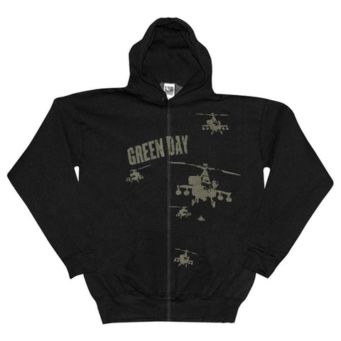 Green Day - Aircraft Zip Up Hoodie