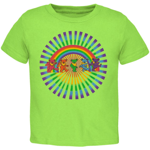 Grateful Dead - Rainbow Bears Keylime Toddler T-Shirt