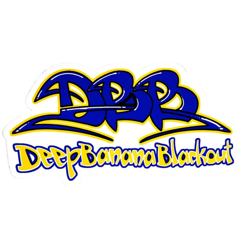Deep Banana Blackout - Tag Logo Sticker