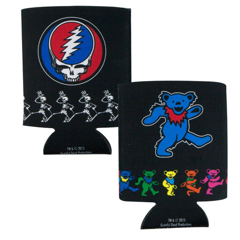 Grateful Dead - Steal Your Face & Dancing Bear 2 Pack Can Coolers