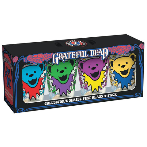 Grateful Dead - Dancing Bear Faces 4-Pack Pint Glass Set