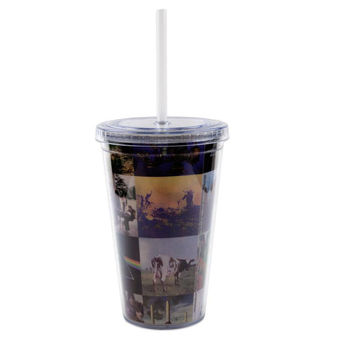 Pink Floyd - Album Covers Acrylic Tumbler With Straw