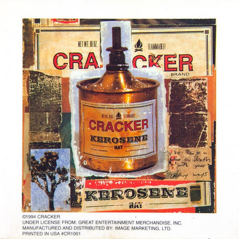 Cracker - Kerosene Hat Cling-On Sticker