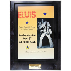Elvis Presley - Morning Show - Plaque