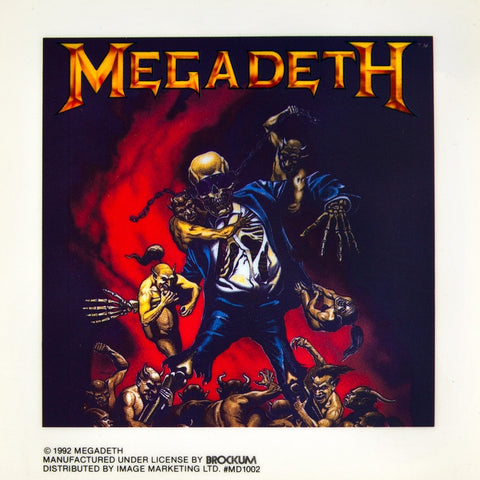 "Megadeth - Demons - Cling-On Sticker 5.75"" x 5.75"""