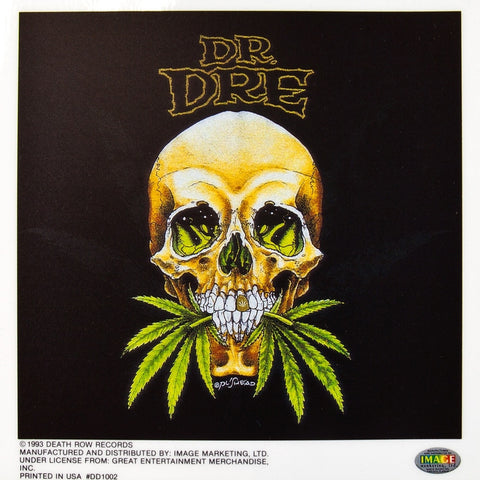 Dr. Dre - The Chronic Skull - Cling-On Sticker