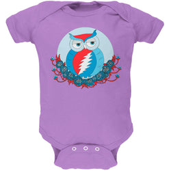 Grateful Dead - Steal Your Face Owl Lavender Baby One Piece