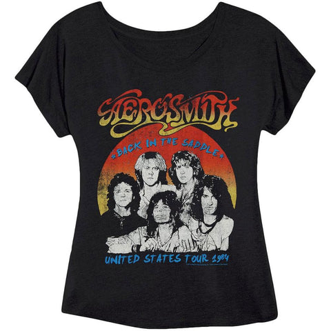 Aerosmith - US Tour '84 Juniors Tri-Blend Dolman T-Shirt