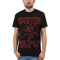 Led Zeppelin - 1977 Red Lettering Soft Adult T-Shirt