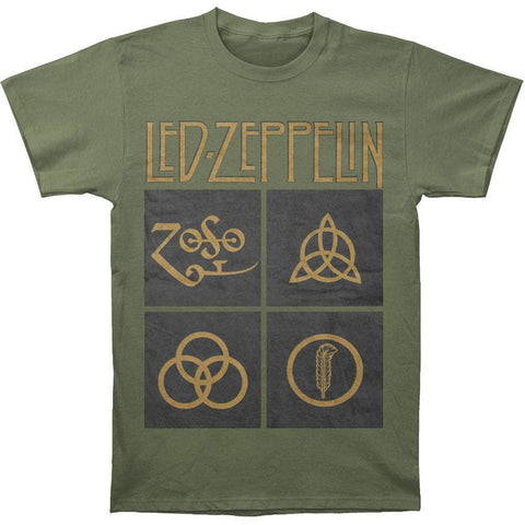 Led Zeppelin - Black Box Symbols Adult T-Shirt