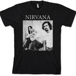 Nirvana - Black and White Sitting Photo Adult T-Shirt