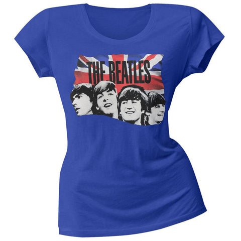 The Beatles - Flag Faces Soft Juniors T-Shirt
