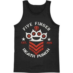 Five Finger Death Punch - Chevron Military Adult Muscle T-Shirt