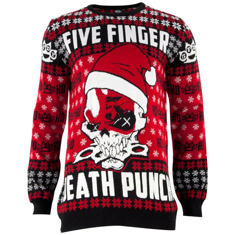 Five Finger Death Punch - Knucklehead Santa Ugly Christmas Adult Sweater