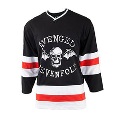 Avenged Sevenfold - Skull Bat Red Seven Adult Replica Hockey Jersey