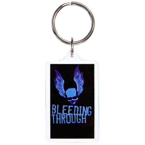 Bleeding Through - Winged Skull Keychain