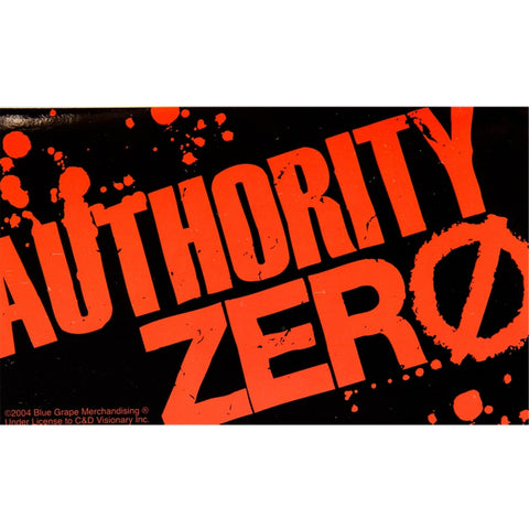 Authority Zero - Splatter Logo Decal