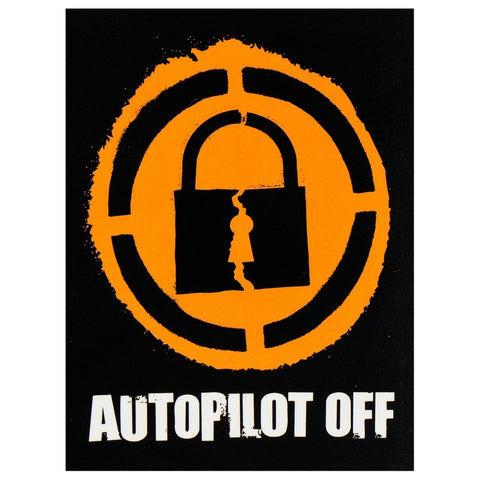 Autopilot Off - Lock Decal