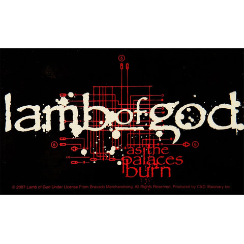 Lamb Of God - Palace Decal