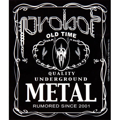 Probot - Metal Label Decal