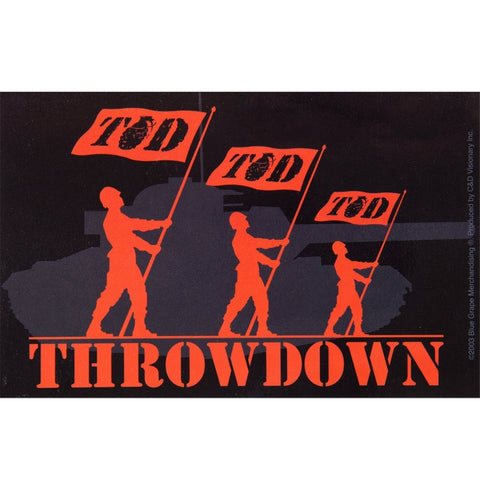 "Throwdown - Flag Decal 3.5"" x 3.5"""