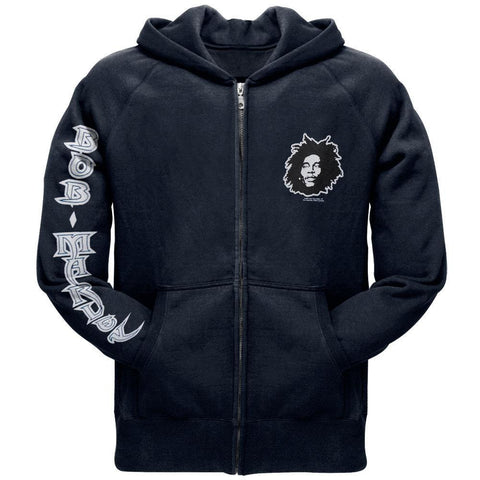 Bob Marley - Kaya Now Navy Zip Up Hoodie