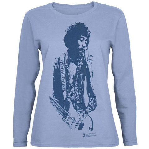 Jimi Hendrix - Strumming Juniors Long Sleeve T-Shirt