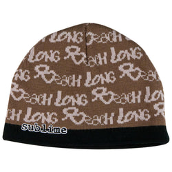Sublime - All-Over Long Beach Knit Beanie Hat