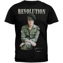 John Lennon - Revolution Black T-Shirt